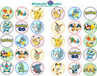 30 x Pokemon Design Edible Wafer / Icing Cup Cake Topper