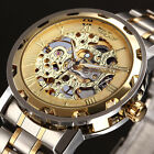 Classic Transparent Steampunk Skeleton Mechanical  Casual Stainless Steel Watch