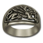 GRYPHON MASONIC RING Sterling SILVER 925 GOLD 14k Freemason Mason Christian
