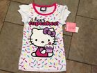 NWT Hello Kitty T Shirt Top Short Sleeved White Pink I heart Cupcakes 4 5