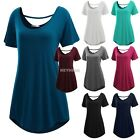Meaneor Women Short Sleeve Loose-fit Long Length Tunic Top hot sale K0E1