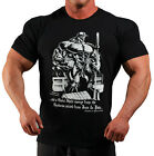 BLACK BOOK OF PAIN BODYBUILDING T-SHIRT WORKOUT GYM CLOTHING (J-95)