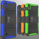 Hybrid Kickstand Case & Holster for LG X Power Belt Clip Cover