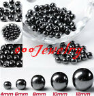 4-12mm Non-Magnetic Hematite Spacer Findings Round Ball Beads For Jewelry Making