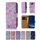 32nd Floral Design Book PU Leather Wallet Case Cover for Samsung Galaxy Phones