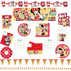 DISNEY MINNIE MOUSE PARTY SUPPLIES CAFE, BUNTING, PLATES, CUPS, NAPKINS, MORE!!