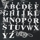 """Silvery Stainless Steel 26 ALphabet Letter A-Z Pendant Necklace 19"""" Men Jewelry"""