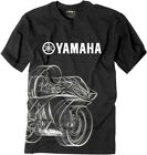Factory Effex Licensed Yamaha R1 T-Shirt Black Mens All Sizes image
