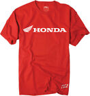 Factory Effex Licensed Honda Horizontal T-Shirt Red Mens All Sizes