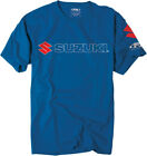Factory Effex Licensed Suzuki Team T-Shirt Blue Mens All Sizes