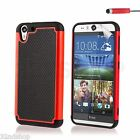 Dual Layer Shockproof Case Cover For HTC Desire EYE + Screen Protector & Stylus