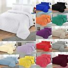 Luxury Plain Soft Quilted Bedspread Comforter Quilt Throw Double Super King image