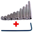 10-24 Set Screws 10 PICK SIZE Stainless Steel Socket Retaining Grub Cup Point
