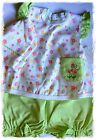Kissy Kissy Luxury Pima Cotton Baby Girl's Bloomer Set 3 pce Outfit