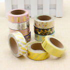 CHIC Glitter Washi Stripe Tape Scrapbook Craft DIY Paper Label Adhesive Sticker