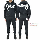 Mens Money Clothing Tracksuit Fleece Jersey Hooded Top Skinny Slim Joggers Pants