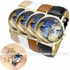 Westeros The Sunset Kingdom Map Gold Case Leather Band Quartz Wrist Watch Gift