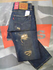 LEVI'S 511 MEN'S SLIM FIT LOW RISE ZIP FLY DESTRUCTED JEANS BROOK LAWN