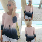 Fashion Womens Ladies Casual Long Sleeve Crew Neck T Shirt Loose Tops Blouse New