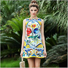 2016 Summer New Hot Sale Occident Popular 3D Printing Simple Women Vest Dress