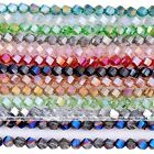 Strand 8mm Faceted Twist Crystal Glass Loose Beads DIY Craft Jewelry Finding DIY