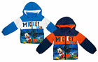 Boys Disney Mickey Mouse 1928 Padded Hooded Puffa Style Jacket Coat 3 to 8 Years
