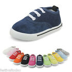 Boys Girls Kids Childrens Toddler Canvas Casual Shoes Pumps Plimsolls Trainers