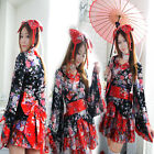 Outfit Dress Ladies Costume Uniform Lolita Maid Women Kimono Set Anime Cosplay