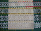5 metres Dovecraft knitting in eyelet lace 35mm wide Christmas gold silver green