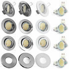 1-10er Set 230V Decken Einbaulampe SMD LED 3,3 = 35W Halogen Downlight GU10 IP65