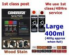 High Quality Aerosol Wood Stain and Lacquer Interior / Exterior Large 400ml Can