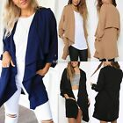 Women Chiffon Coat Waterfall Jacket Blazer Casual Cardigan Cape Tops Kimono New