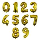 32'' Gold Foil Helium Number Balloons Party Birthday Wedding Decoration