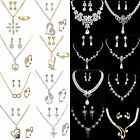 Shinning Prom Wedding Bridal Jewelry Crystal Rhinestone Necklace Earring Sets CH