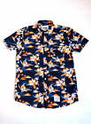 Superdry South Bank Surf Short Sleeve Shirt  Honolulu Orange.