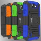 Hybrid Kickstand Case & Holster for LG K3  Belt Clip Cover