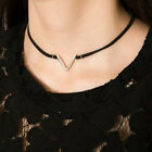 Beauty Velvet Choker Silver Gold Plated V Shape Pendant Necklace Chain Jewelry