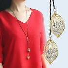New Women's Gold/Silver Plated Chain Pendant Leaves Hollow Gift Necklace