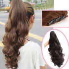 Stylish Long Wavy Curly Ponytail Hairpiece Hair Extensions Claw Fine ZXF