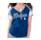 Los Angeles Dodgers Womens G-III Clubhouse V-Neck Tee Blouse Blue