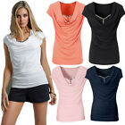 New Fashion Women Loose Pullover T Shirt Short Sleeve Cotton Blouse Tops Shirts