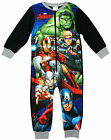 Boys Avengers Hulk Ironman Thor Hawkeye Fleece Zipper Sleepsuit 2 to 8 Years