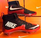 NIKE VAPOR UNTOUCHABLE FOOTBALL CLEATS BLACK/WHT/RED SIZE 9.5-12.5 FREE SHIPPING