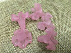 18x20mm 12/../100pcs FROSTED PINK ACRYLIC PLASTIC FLOWER LOOSE BEADS Y00026