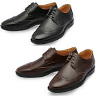 Mooda Mens Leather Wing Tip Shoes Casual Formal Oxfords Dress Shoes Temble UK