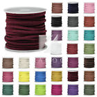 5m/Roll Ronde Fil Corde Strings Faux Suede Bracelet Bijoux 3x1.5mm 30 Couleurs