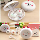 Travel Portable Cute Animal Shape Contact Lens Case Storage Container Holder Box