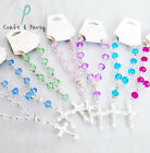 """6"""" Acrylic Pocket Rosary Bracelet Baptism  - 7 colors to choose from - 1 piece"""