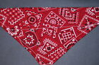 Внешний вид - Dog Bandana, OVER THE COLLAR,clothes, pet, Size S,M,L,XL, Red Traditional!