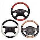 Custom Fit 1 or 2 Color Leather Steering Wheel Cover Wheelskins 14 1/2 X 4 1/4 on eBay